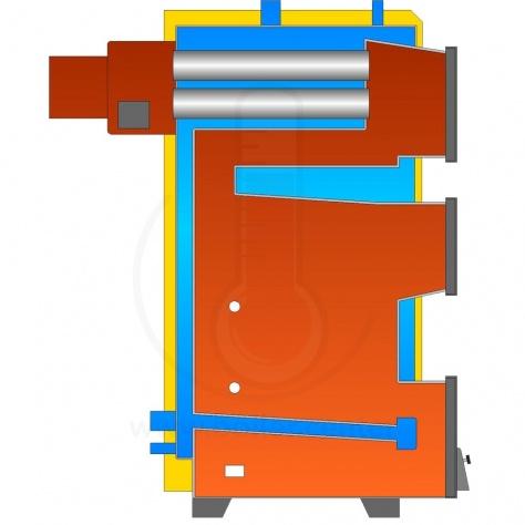 Твердотопливный котел Kotlant КГ-27 с автоматикой zPID