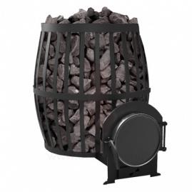 Дровяная печь для бани, сауны Canada ПКБ-Бочка 30