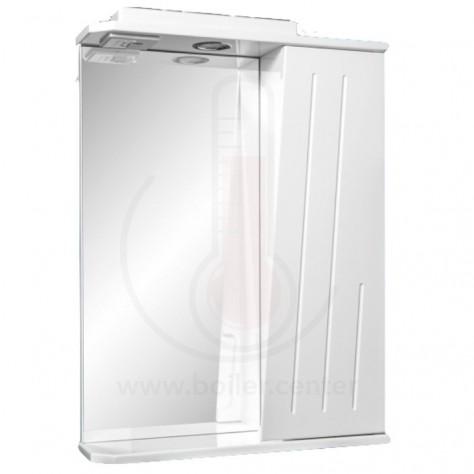 Зеркало со шкафчиком AFamily Оскар GZ 55 Белое (L,R)