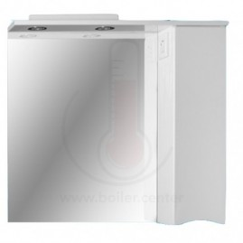 Зеркало со шкафчиком AFamily Комо GZ 80 (L,R) Белое